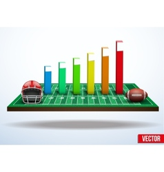 Concept of statistics about the game of football vector