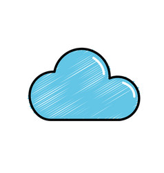 cute cloud natural weather of sky vector image vector image