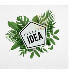 Frame floral idea green vector