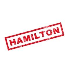 Hamilton rubber stamp vector