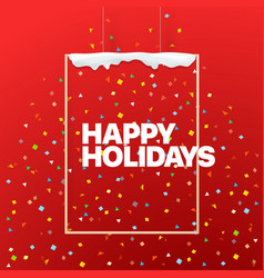 Happy holidays concept logo on the wall vector