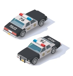 isometric police car vector image