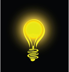 lightbulb vector image vector image