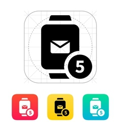 Mail notification on smart watches icon vector