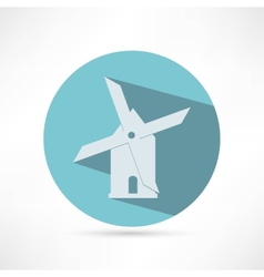 Mill icon isolated on white background vector image