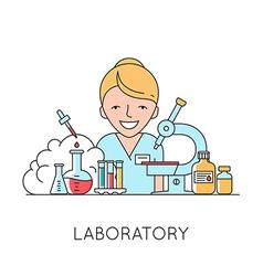 Nurse medical equipments vector image vector image