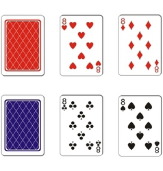 Playing card set 04 vector image