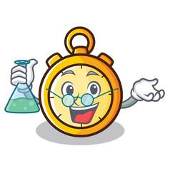 Professor chronometer character cartoon style vector