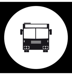 Simple front view school bus public transpor icon vector