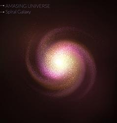 Spiral galaxy vector image vector image