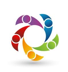 Teamwork people logo vector