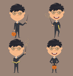 wizard boy vector image