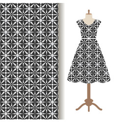 Women dress fabric pattern design vector