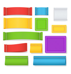 Color label fabric blank collection vector