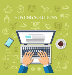Hosting solutions concept vector