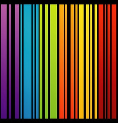 Rainbow colored bar code vector