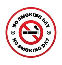No smoking day sign Quit smoking day symbol vector image