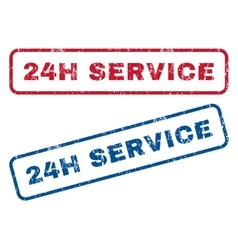 24H Service Rubber Stamps vector image vector image