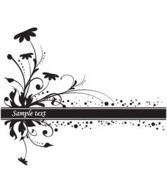 Floral background copy space vector