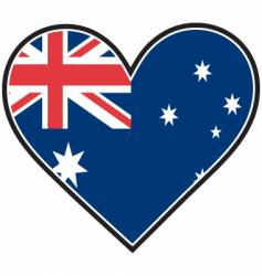 Australia heart flag vector