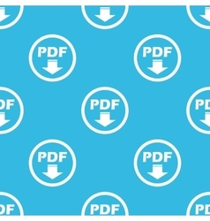 Pdf download sign blue pattern vector