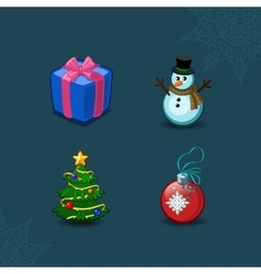 Christmas icons collection vector