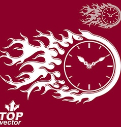 Elegant timer with burning flame invert version vector