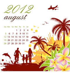 calendar for 2012 august vector image