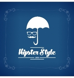 Hipster style background vector
