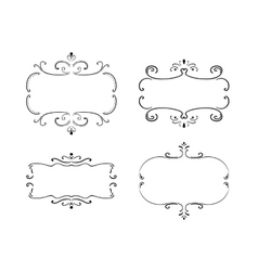 Set of freehand vintage frames vector