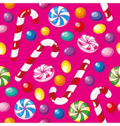 seamless pattern funny candies vector image