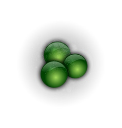 Abstract three green points vector
