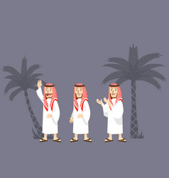 arabian men character vector image