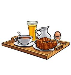 Breakfast in hotel vector