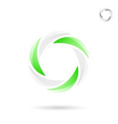 Bright segmented circle shape vector