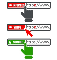 Browser address bar with https protocol vector image vector image