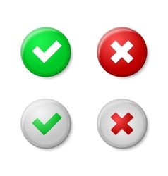 Check marks Realistic buttons style with gloss vector image vector image