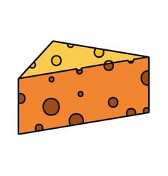 Cheese piece icon vector