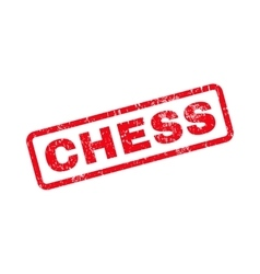 Chess Text Rubber Stamp vector image vector image