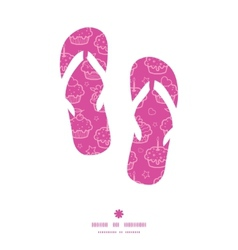 Colorful cupcake party flip flops silhouettes vector
