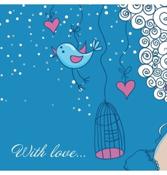 Cute background in cartoon style vector