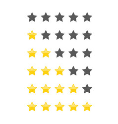 Different star icons set vector