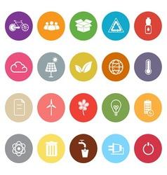 Ecology flat icons on white background vector image vector image