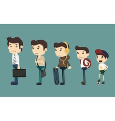 Evolution of man from child vector