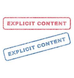 Explicit content textile stamps vector