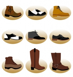 fashion man shoes vector image vector image