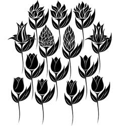Flowers Set 00 vector image vector image