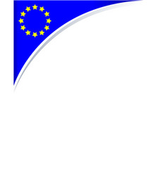 frame with the flag of the european union vector image vector image
