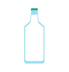 glass bottle icon image vector image