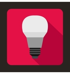 Glowing led bulb icon flat style vector